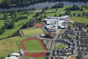 Aerial photography Scotland Perth St John's Academy  North Inch Community Campus