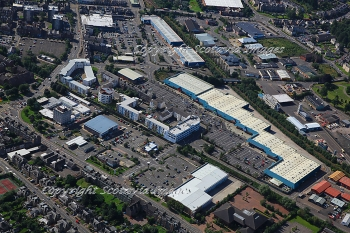 Aerial photography Scotland Perth st catherines retail park