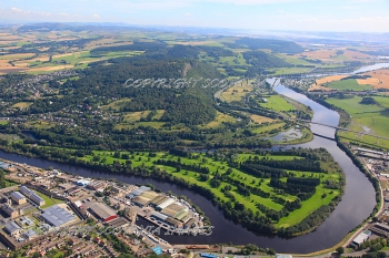 Aerial photography Scotland Perth port River Tay