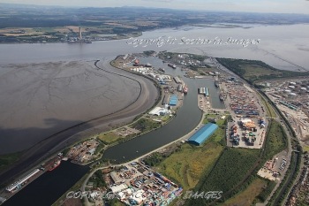 Aerial photography Scotland  Grangemouth port