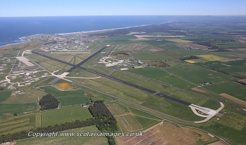 Scottish scenery ,Aerial photography Scotland,Lossiemouth.airport,RAF,airbase,airfield