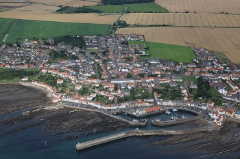 Aerial photography Scotland Pittenweem Fife village fishing