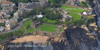 Aerial photography Scotland  St Andrews castle