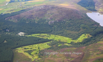 Aerial photography Scotland Kingussie Golf course