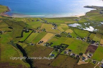 Aerial photography Scotland Col Uarach and Traigh Chuil,Isle of Lewis