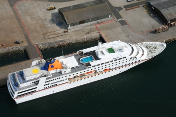 Aerial photography Scotland Christopher Columbus at Invergordon July 08