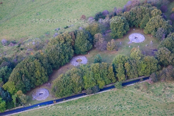 Aerial photography Scotland Clava Cairns Oct 2012