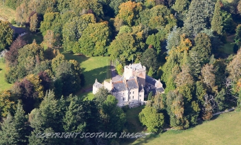 Aerial photography Scotland Kilravock castle