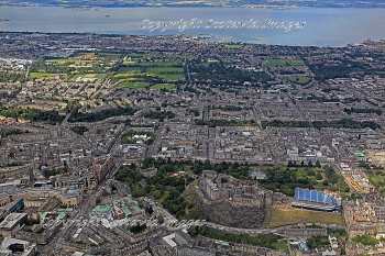 Scottish scenery ,Aerial photography Scotland,Edinburgh