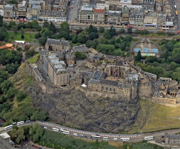 Scottish scenery ,Aerial photography Scotland,Scottish Castle,Edinburgh