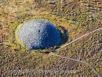 Aerial photography Scotland  Camster West cairn,Caithness