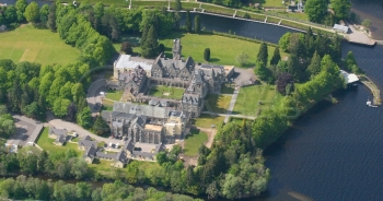 Aerial photography Scotland highland club