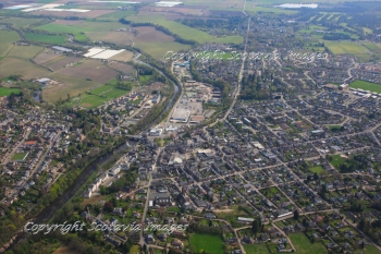 Aerial photography Scotland Blairgowrie