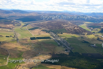Aerial photography Scotland Tomintoul in the Cairngorms