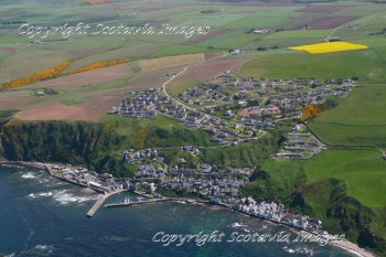 Aerial photography Scotland Gardenstown