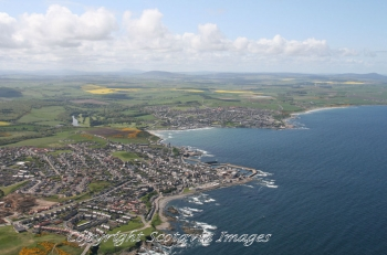 Aerial photography Scotland Scottish scenery Banff Macduff