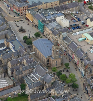 Aerial photography Scotland  St Giles Kirk Elgin