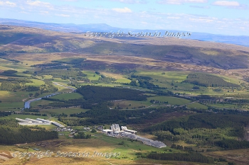 Aerial photography Scotland  Tomatin distillery