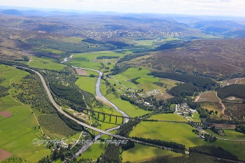 Aerial photography Scotland  Tomatin Viaducts