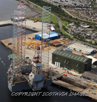 Aerial photography Scotland Galaxy II at Invergordon 2009