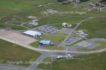 Aerial photography Scotland Stornoway airport terminal and control tower