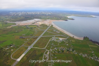 Aerial photography Scotland Stornoway airport July 2011