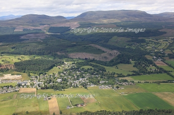 Aerial photography Scotland Strathpeffer and Ben Wyvis