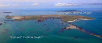 Aerial photography Scotland Scottish scenery Berneray from the East