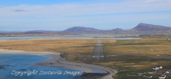 Aerial photography Scotland Benbecula airport