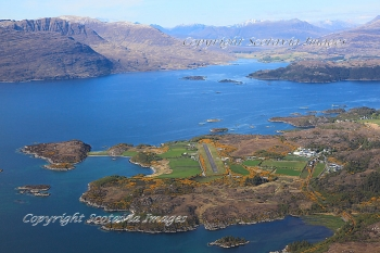 Aerial photography Scotland Scottish scenery Plockton airport Loch Kishorn