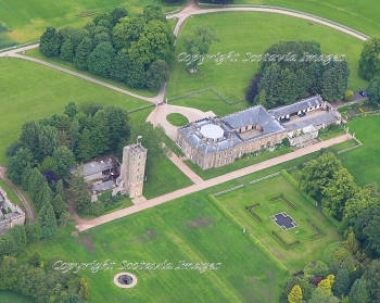 Aerial photography Scotland  Gordon castle Fochabers