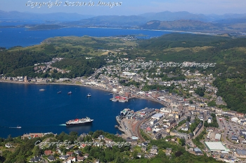 Scottish Scenery  Aerial photography Scotland Oban and the ferry