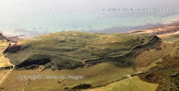 Aerial photography Scotland Scottish scenery Drumadoon hill fort Isle of Arran