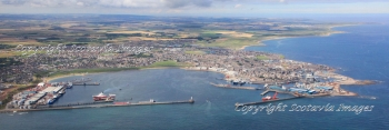 Aerial photography Scotland  Peterhead panoramic