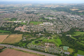 Aerial photography Scotland Perth from the South