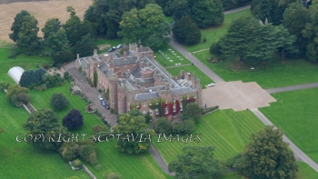 Aerial photography Scotland Scone Palace