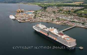 Aerial photography Scotland Eurodam at Invergordon