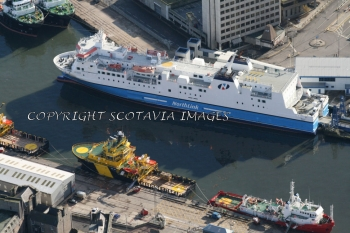 Aerial photography Scotland Ship Hrossey Aberdeen