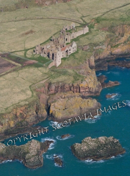 Scottish Castle  Aerial photography Scotland Slains Castle