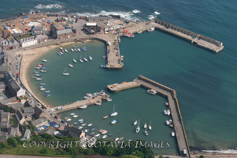 Aerial photography Scotland Stonehaven harbour